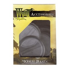Malifaux: Accessories - Clear Translucent Bases 40mm