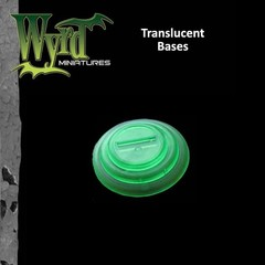 Malifaux: Accessories - Green Translucent Bases 50mm (3)