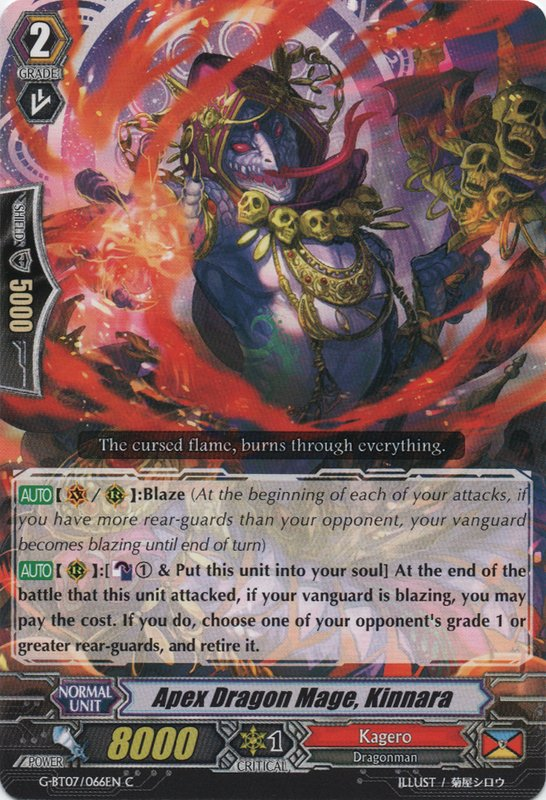 Apex Dragon Mage, Kinnara - G-BT07/066EN - C
