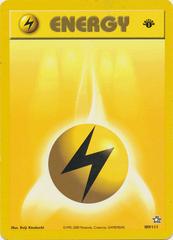 Lightning Energy - 100/102 - Base Set Common - 1st Edition
