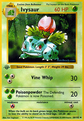 Ivysaur - 30/102 - Uncommon - 1st Edition