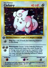 Clefairy - 5/102 - Holo Rare - 1st Edition