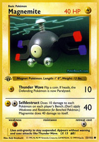 Magnemite - 53/102 - Common - 1st Edition