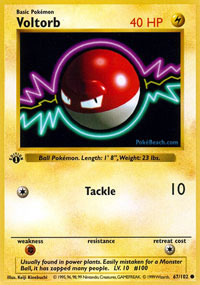 Voltorb - 67/102 - Common - 1st Edition