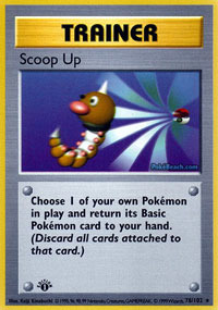 Scoop Up - 78/102 - Rare - 1st Edition