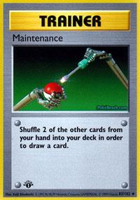 Maintenance - 83/102 - Uncommon - 1st Edition