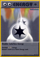 Double Colorless Energy - 96/102 - Uncommon - 1st Edition (Shadowless)