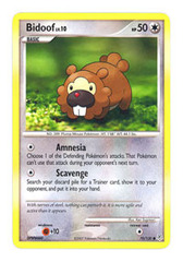 Bidoof - 70/130 - Common on Channel Fireball