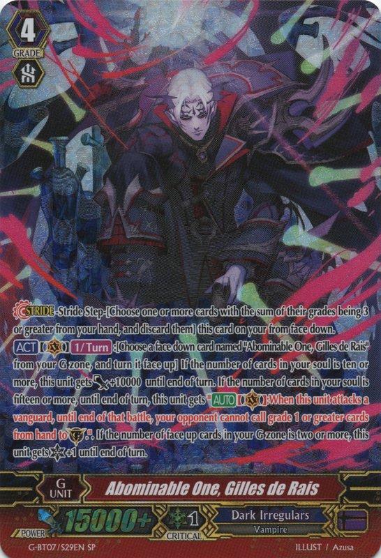 Abominable One, Gilles de Rais - G-BT07/S29EN - SP