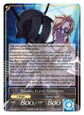 Memoria of the Seven Lands // Machina, Clever Researcher - BFA-093 - R - Foil