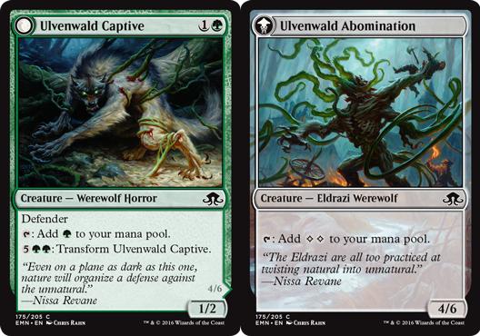Ulvenwald Captive // Ulvenwald Abomination - Foil