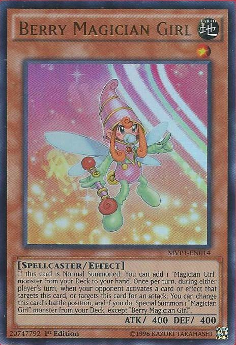 Berry Magician Girl - MVP1-EN014 - Ultra Rare - 1st Edition