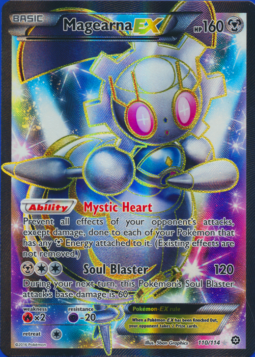Magearna-EX - 110/114 - Full Art Ultra Rare