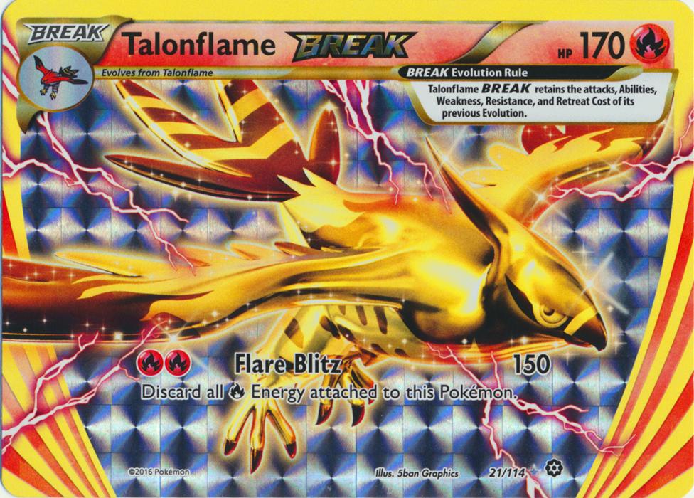 Talonflame BREAK - 21/114 - Rare BREAK