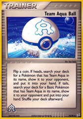 Team Aqua Ball - 75/95 - Uncommon on Channel Fireball