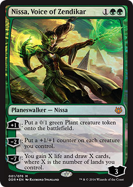 U Treetop Village MTG Magic - NM//M Nissa vs Ob Nixilis