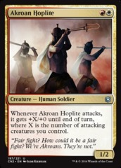 Akroan Hoplite on Channel Fireball
