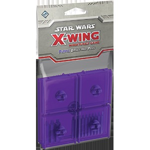 Star Wars X-Wing - Purple Bases and Pegs