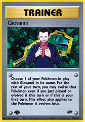 Giovanni - 104/132 - Rare - 1st Edition on Channel Fireball