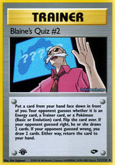 Blaine's Quiz #2 - 111/132 - Uncommon - 1st Edition