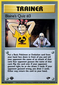 Blaines Quiz #3 - 112/132 - Uncommon - 1st Edition