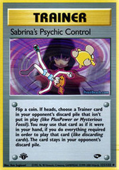 Sabrina's Psychic Control - 121/132 - Uncommon - 1st Edition