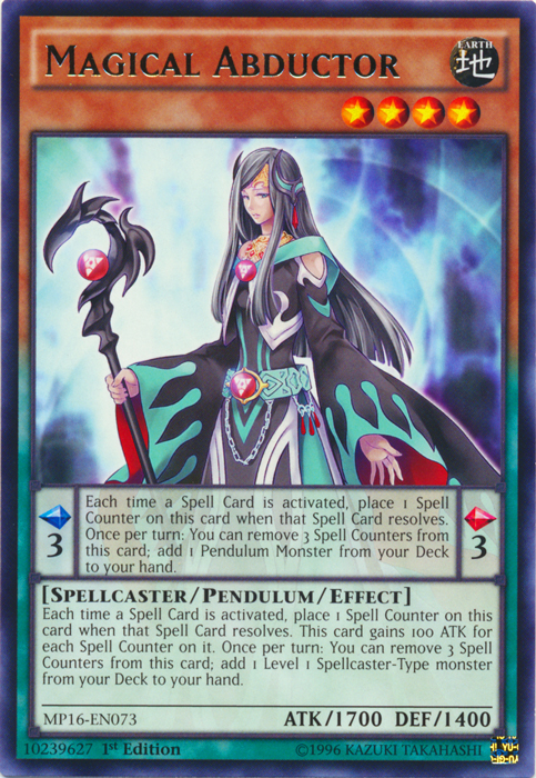 Magical Abductor - MP16-EN073 - Rare - 1st Edition