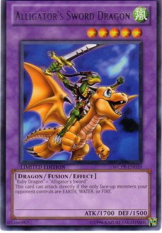 Alligator's Sword Dragon - WCPP-EN019 - Rare - Limited Edition