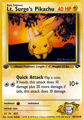 Lt. Surge's Pikachu - 84/132 - Common - 1st Edition