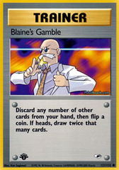 Blaine's Gamble - 121/132 - Common - 1st Edition on Channel Fireball