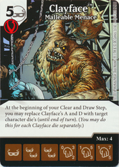 Clayface - Malleable Menace (Die & Card Combo)