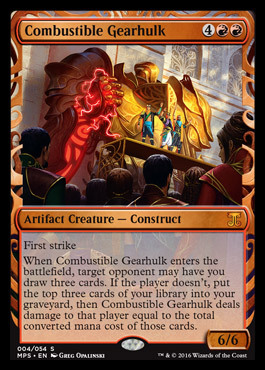 Combustible Gearhulk (Masterpiece Foil)