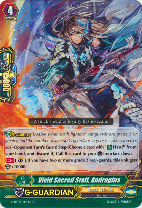 Vivid Sacred Staff, Andragius - G-BT08/011EN - RR