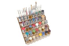 Modular Paint Rack - Straight (26mm Dropper Style Bottles)