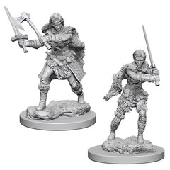 Nolzur's Marvelous Miniatures - Human Barbarian (Female) (W1)