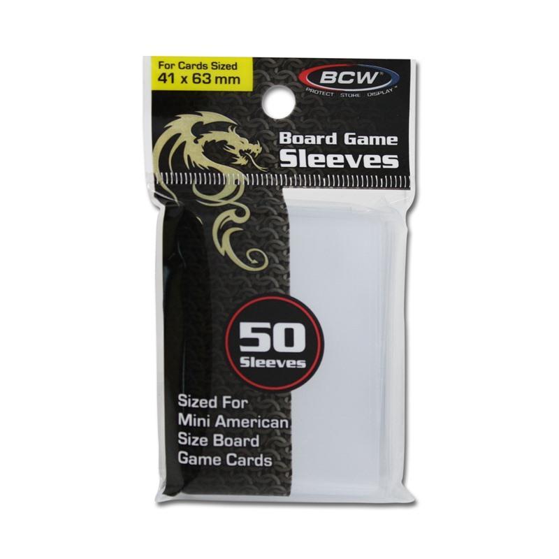 BCW Board Game Sleeves 50 Sleeves - 41mm x 63mm