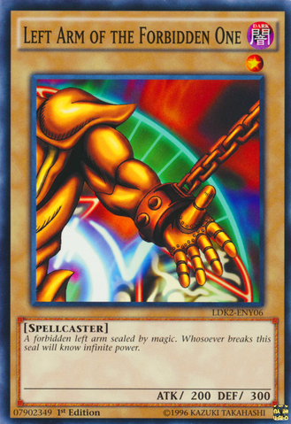 Left Arm of the Forbidden One - LDK2-ENY06 - Common - 1st Edition