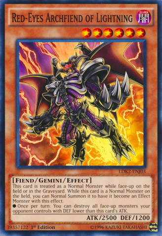 Red-Eyes Archfiend of Lightning - LDK2-ENJ03 - Common - 1st Edition