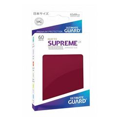 Matte - Burgundy - Supreme UX (Ultimate Guard) - Small Sleeves - 60ct