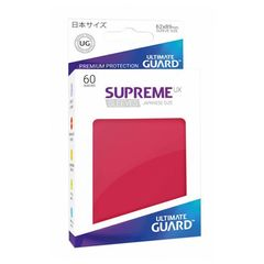 Ultimate Guard - Supreme UX Sleeves Small Size - Red (60)