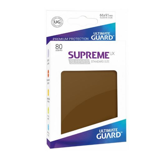 Ultimate Guard: Standard Supreme UX Sleeves Brown (Box of 80)