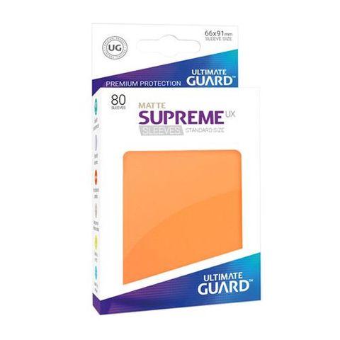 Ultimate Guard - Supreme UX Sleeves Standard Size - Matte - Orange (80)