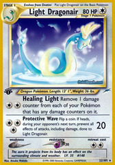 Light Dragonair - 22/105 - Rare - 1st Edition
