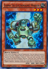 Gamma The Electromagnet Warrior - SDMY-EN003 - Super Rare - 1st Edition on Channel Fireball