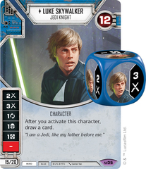 Luke Skywalker - Jedi Knight (Sold with matching Die)