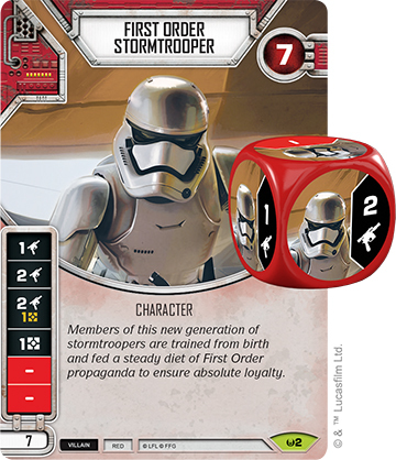 First Order Stormtrooper (Sold with matching Die)