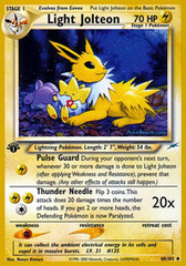 Light Jolteon - 48/105 - Uncommon - 1st Edition