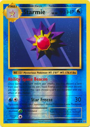 Starmie - 31/108 - Rare - Reverse Holo