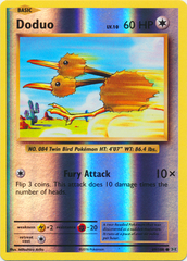 Doduo - 69/108 - Common - Reverse Holo on Channel Fireball