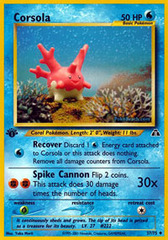 Corsola - 37/75 - Uncommon - 1st Edition on Channel Fireball